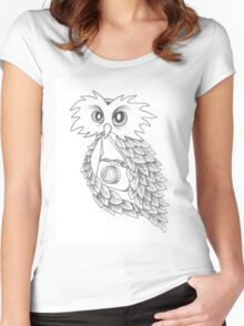The Night Owl Women's Fitted Scoop T-Shirt