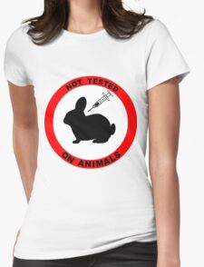 No Animal Testing Womens Fitted T-Shirt