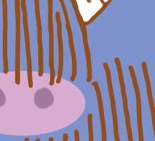 Highland Cow Purple Sticker
