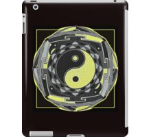 yellow and black mandala iPad Case/Skin