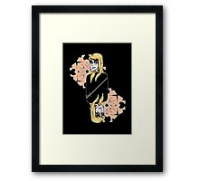 The Card - Woman Framed Print