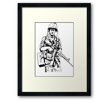 Vietnam Soldier Graphic Framed Print