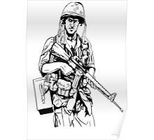 Vietnam Soldier Graphic Poster