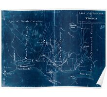 American Revolutionary War Era Maps 1750-1786 646 Part of the Province of Virginia Inverted Poster