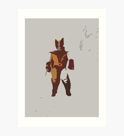 Wolverine Brown & Tan Art Print