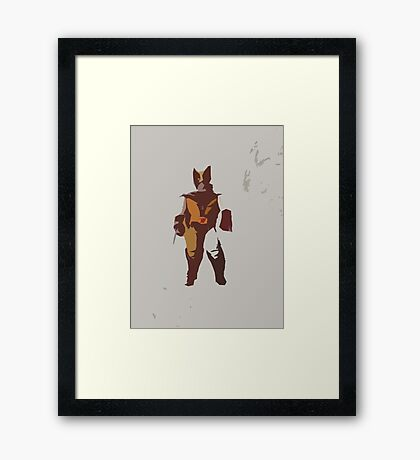 Wolverine Brown & Tan Framed Print