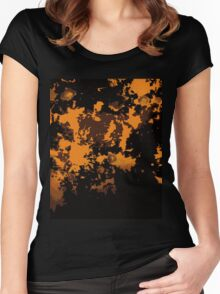 variations on orange - rorschach - modern chaos Women's Fitted Scoop T-Shirt