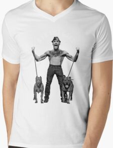 D'ya like dags? black and white Mens V-Neck T-Shirt