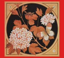 Beautiful autumn flowers and leaves, Victorian art by Thomas Crane Kids Tee