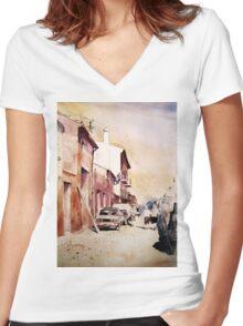 akwarelka 27 Women's Fitted V-Neck T-Shirt