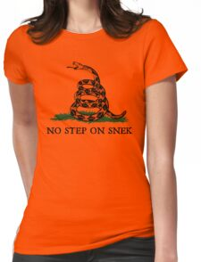 No Step on Snek Graphic Womens Fitted T-Shirt