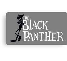 The Black Panther/Pink Panther Cross-over Canvas Print