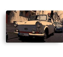 trabant east germany, trabant vs. audi a6 Canvas Print