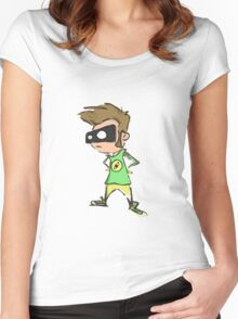 Pensive Chip Women's Fitted Scoop T-Shirt