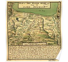 American Revolutionary War Era Maps 1750-1786 744 Plan of Fort William Henry and camp at Lake George Poster