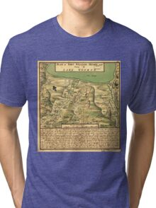American Revolutionary War Era Maps 1750-1786 744 Plan of Fort William Henry and camp at Lake George Tri-blend T-Shirt