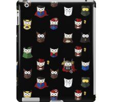 Nerd Boy (Owls) - Black iPad Case/Skin