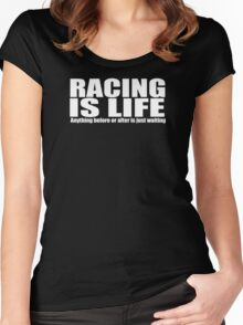 racing motor bike Women's Fitted Scoop T-Shirt