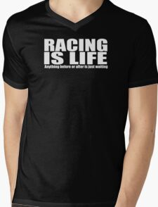 racing motor bike Mens V-Neck T-Shirt