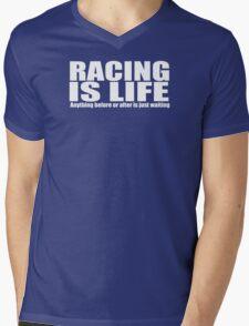 racing motor bike Mens V-Neck T-Shirt