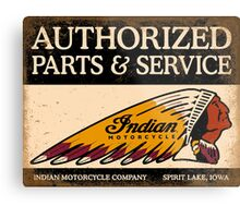Indian Parts and Service sign Metal Print