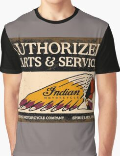 Indian Parts and Service sign Graphic T-Shirt