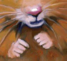 Little Hamster: Original Art, Standing Hamster Sticker