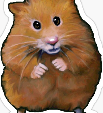 Little Hamster: Original Art, Standing Hamster Sticker