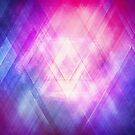 Soft Modern Fashion pink/purple/blueTexture (Soft light glass style - triangle - pattern edit) by badbugs