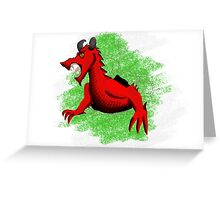 Welsh Dragon. Greeting Card