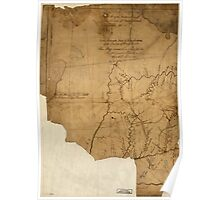 American Revolutionary War Era Maps 1750-1786 120 A Map of the western parts of the province of Pennsylvania Virginia &c Poster