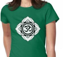 Yoga Ohm Mandala Womens Fitted T-Shirt