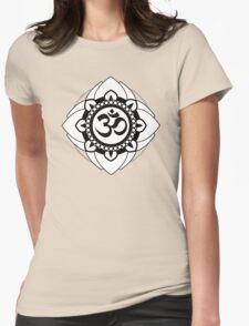 Yoga Ohm Mandala Womens Fitted T-Shirt