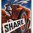 Share - Vintage WW2 Propaganda Poster  by 321Outright