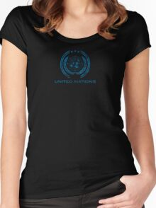 The Expanse - United Nations Logo - Dirty Women's Fitted Scoop T-Shirt