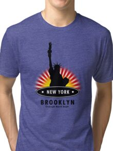 The Big Apple 99, NY Tri-blend T-Shirt