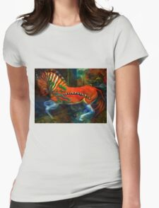 Childhood Memories III:  Ride the Escaping Quagga Womens Fitted T-Shirt