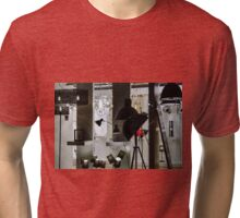 Artistic interior of furnityre shop. View through the window with reflections. Tri-blend T-Shirt
