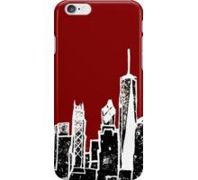 Negative NY Skyline iPhone Case/Skin
