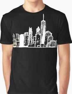 Negative NY Skyline Graphic T-Shirt