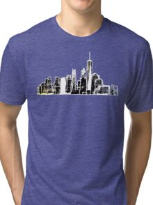 Negative NY Skyline Tri-blend T-Shirt