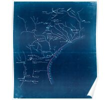 American Revolutionary War Era Maps 1750-1786 638 Operations of the British army from the 25th August to 26th Sept 1777 Inverted Poster