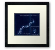 American Revolutionary War Era Maps 1750-1786 895 Sketch of the road from Black Horse to Crosswick Inverted Framed Print