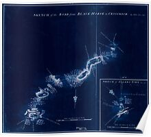 American Revolutionary War Era Maps 1750-1786 895 Sketch of the road from Black Horse to Crosswick Inverted Poster