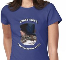 Cat Plans Womens Fitted T-Shirt