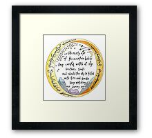 lOTR The Ring, quote, My precious Framed Print
