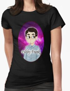 Filthy Frank with Galaxy Background Womens Fitted T-Shirt