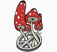 Mushrooms growing out of a peace symbol Unisex T-Shirt