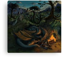 Dragon Camp Canvas Print
