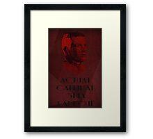 Actual Cannibal Shia Labeouf Framed Print